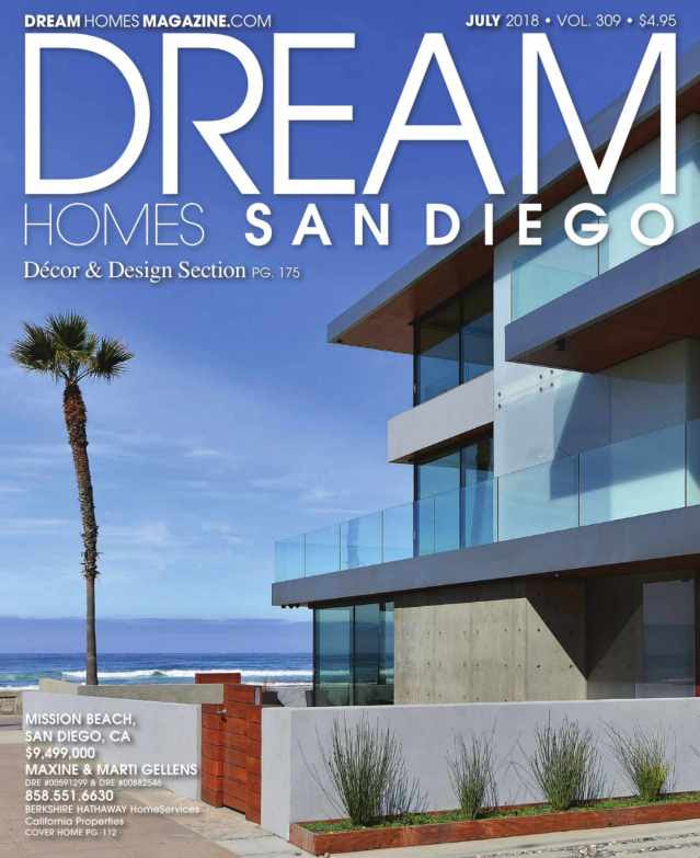 Maha's Home Staging featured at Dream Homes San Diego July Digital Magazine 2018